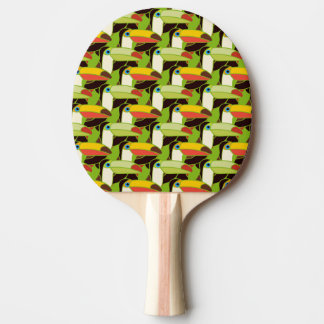 Colorful Toucans Ping Pong Paddle