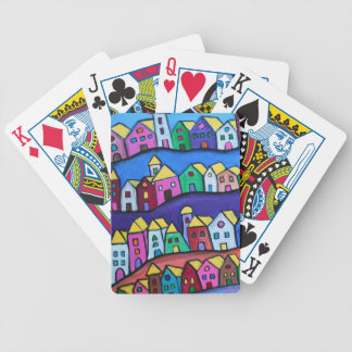 COLORFUL TOWN by Prisarts Bicycle Playing Cards
