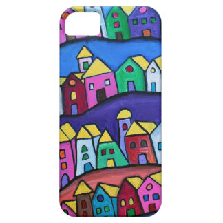 COLORFUL TOWN by Prisarts iPhone 5 Covers