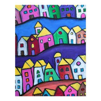 COLORFUL TOWN by Prisarts Letterhead