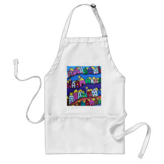 COLORFUL TOWN by Prisarts Standard Apron