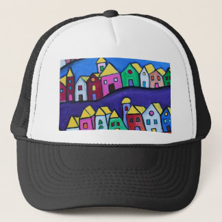 COLORFUL TOWN by Prisarts Trucker Hat