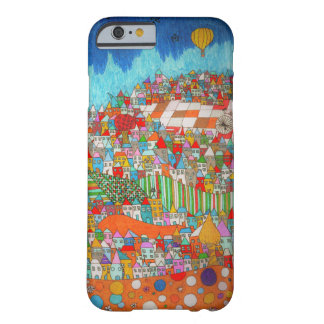 Colorful town. Iphone cover 6/6s Barely