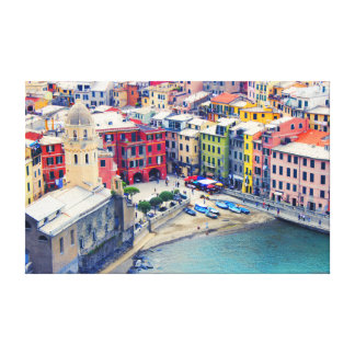 Colorful Town of Vernazza Italy Canvas Print