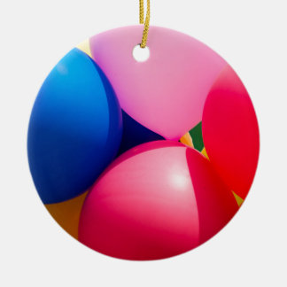 Colorful Toy Balloons Ceramic Ornament
