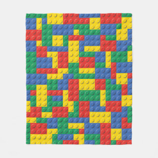 Colorful Toy Building Blocks Background Blanket