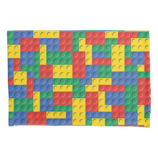Colorful Toy Building Blocks Background Pattern Pillowcase
