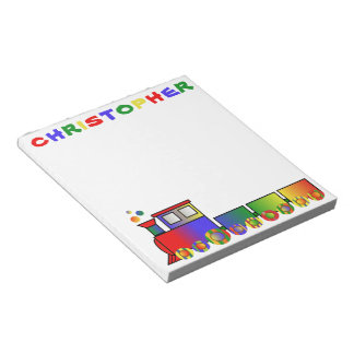 Colorful Train Personalized Notepad