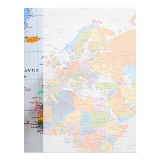 Colorful Travel Map Letterhead