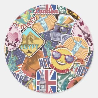 Colorful Travel Sticker Pattern