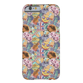 Colorful Travel Sticker Pattern Barely There iPhone 6 Case