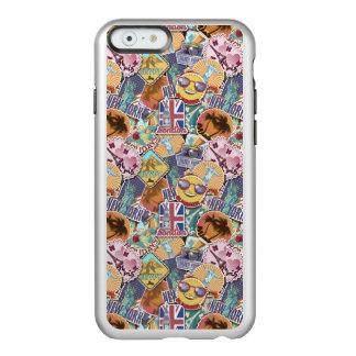 Colorful Travel Sticker Pattern Incipio Feather® Shine iPhone 6 Case