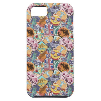 Colorful Travel Sticker Pattern iPhone 5 Case