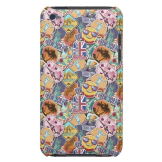 Colorful Travel Sticker Pattern iPod Touch Case