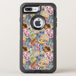 Colorful Travel Sticker Pattern OtterBox Defender iPhone 8 Plus/7 Plus Case