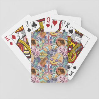 Colorful Travel Sticker Pattern Playing Cards