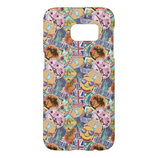 Colorful Travel Sticker Pattern Samsung Galaxy S7 Case