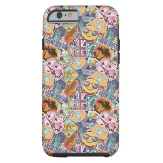 Colorful Travel Sticker Pattern Tough iPhone 6 Case