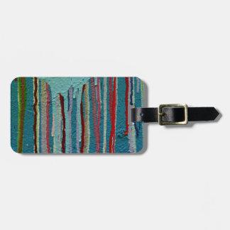 Colorful travel tag. luggage tag