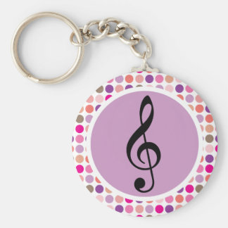 Colorful Treble Clef Keychain Gift