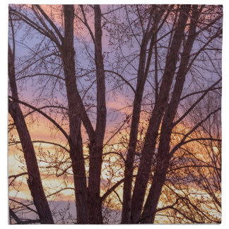 Colorful Tree Branches Night Napkin