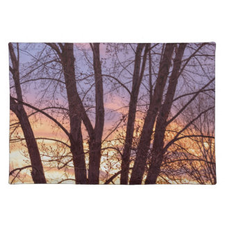 Colorful Tree Branches Night Placemat