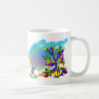 colorful tree coffee mug