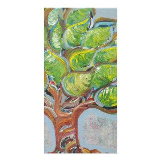 Colorful Tree Customized Photo Card