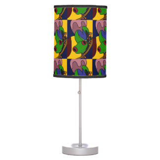 Colorful Tree Frog Art Abstract Lamp