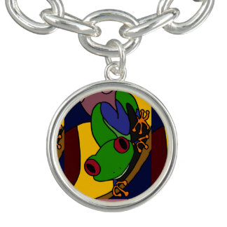 Colorful Tree Frog Art Charm