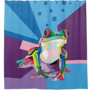 Colorful Tree Frog Portrait