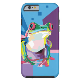 Colorful Tree Frog Portrait Tough iPhone 6 Case