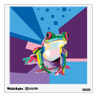 Colorful Tree Frog Portrait Wall Decal