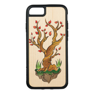 Colorful Tree Illustration Carved iPhone 7 Case