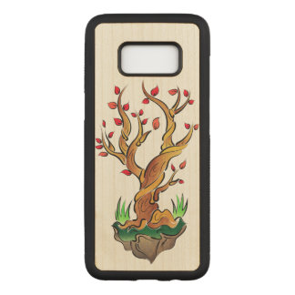 Colorful Tree Illustration Carved Samsung Galaxy S8 Case