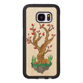 Colorful Tree Illustration Wood Samsung Galaxy S7 Case