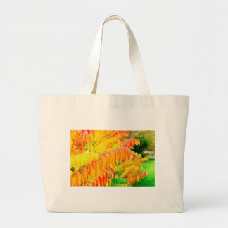 Colorful tree leaves in autumn season outdoors large tote bag