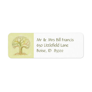 Colorful Tree of Life address label