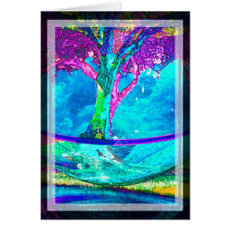Colorful Tree of Life Artwork by Amelia Carrie in Card