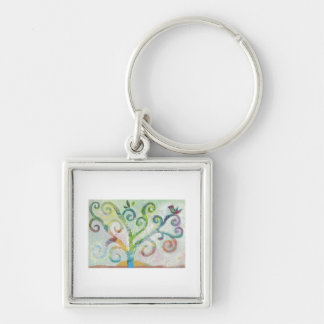 Colorful Tree of Life Keychain