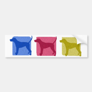 Colorful Treeing Walker Coonhound Silhouettes Bumper Sticker