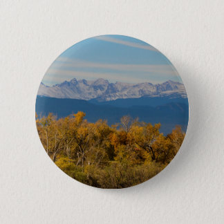 Colorful Trees and Majestic Mountain Peaks 2 Inch Round Button