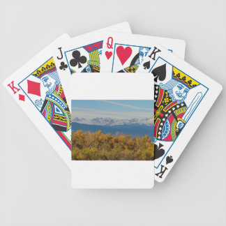 Colorful Trees and Majestic Mountain Peaks Bicycle Playing Cards