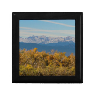 Colorful Trees and Majestic Mountain Peaks Gift Box