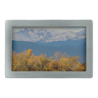 Colorful Trees and Majestic Mountain Peaks Rectangular Belt Buckles