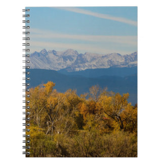 Colorful Trees and Majestic Mountain Peaks Spiral Notebook