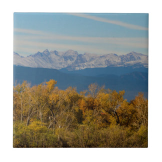Colorful Trees and Majestic Mountain Peaks Tile