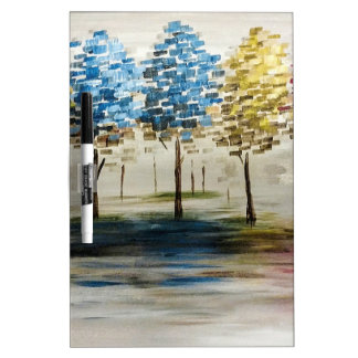 Colorful Trees Dry Erase Boards