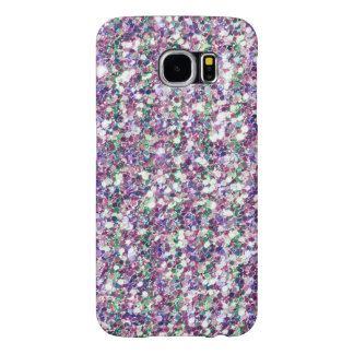 Colorful Trendy Glitter Texture Print Samsung Galaxy S6 Case