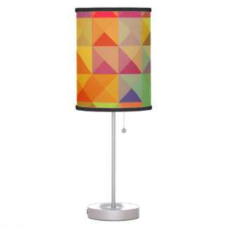 Colorful Triangle Geometric Pattern Table Lamps